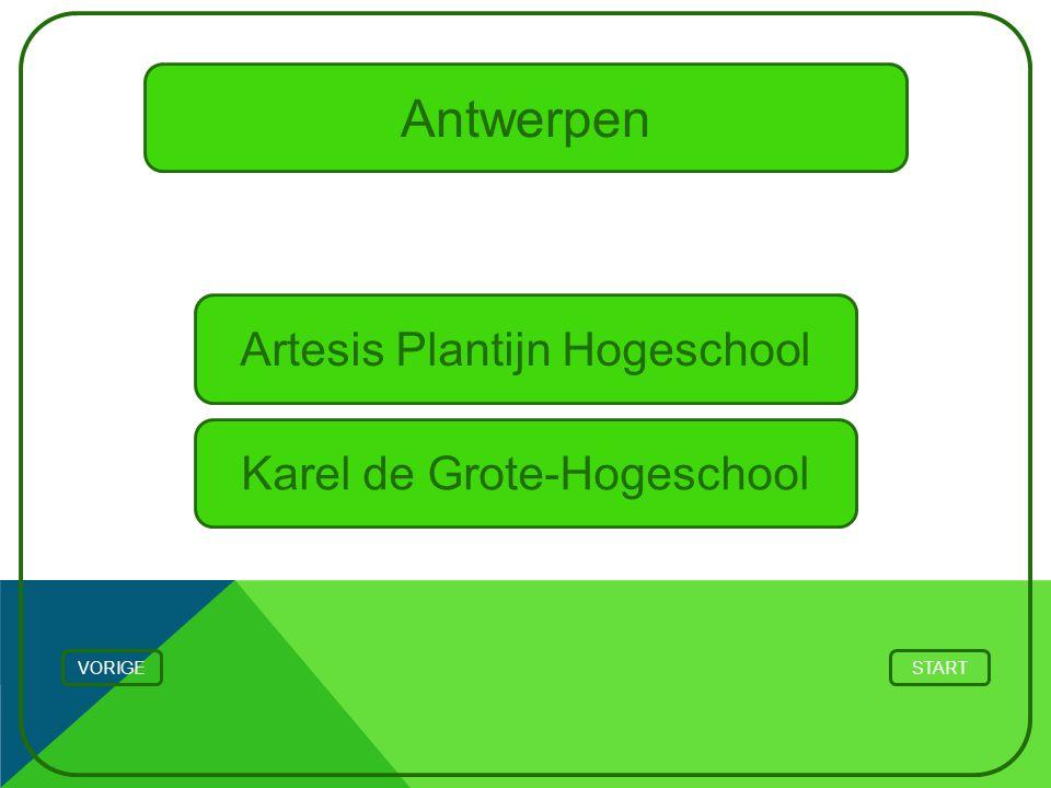 Antwerpen Artesis Plantijn Hogeschool Karel de Grote-Hogeschool VORIGE