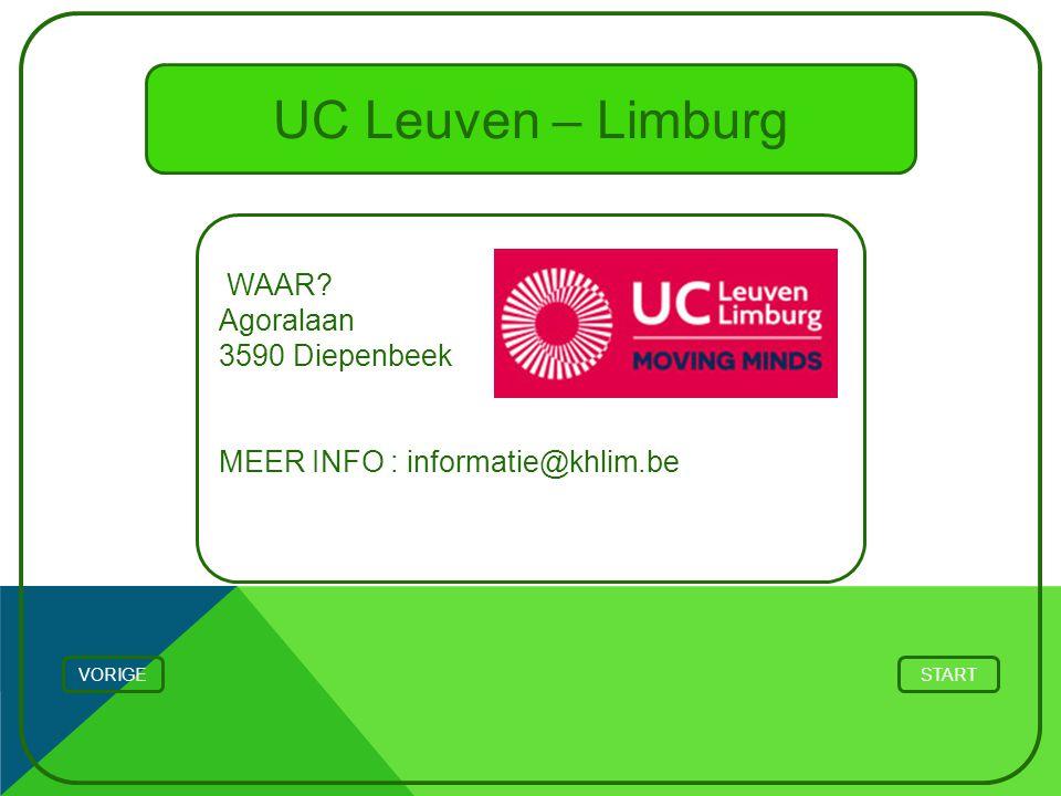 UC Leuven – Limburg WAAR Agoralaan 3590 Diepenbeek