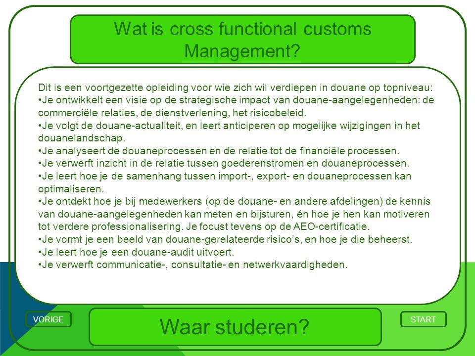 Wat is cross functional customs