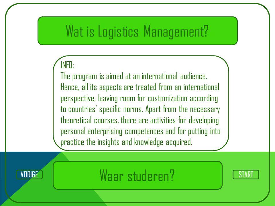 Wat is Logistics Management