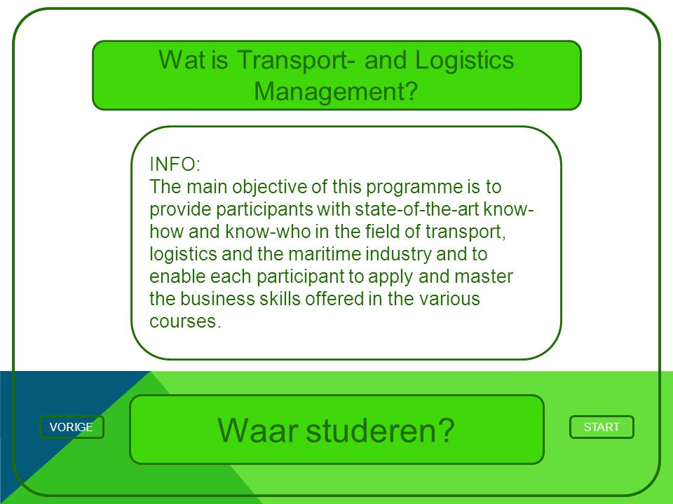 Wat is Transport- and Logistics Management