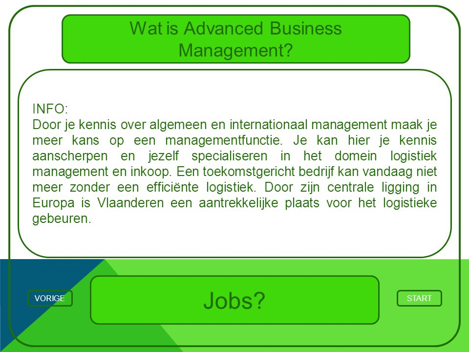 Wat is Advanced Business Management