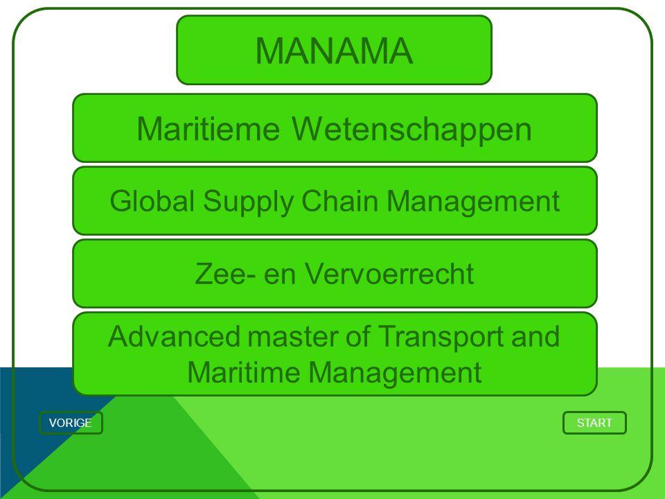 MANAMA Maritieme Wetenschappen Global Supply Chain Management