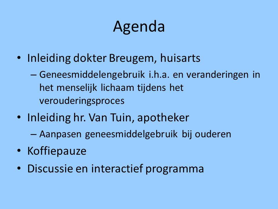 Agenda Inleiding dokter Breugem, huisarts