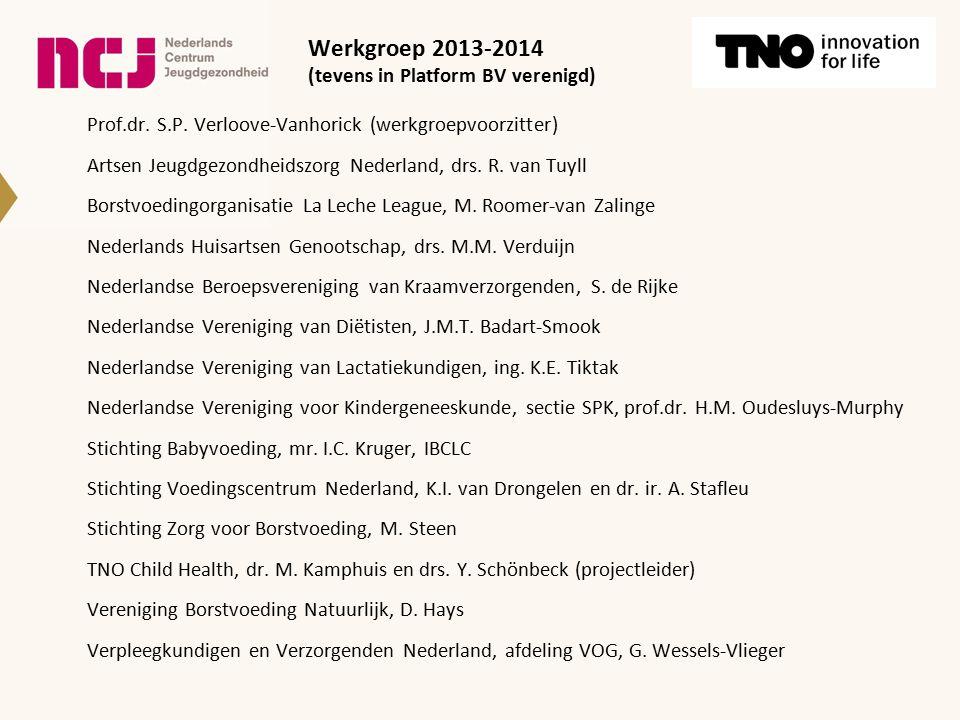 Werkgroep 2013-2014 (tevens in Platform BV verenigd)