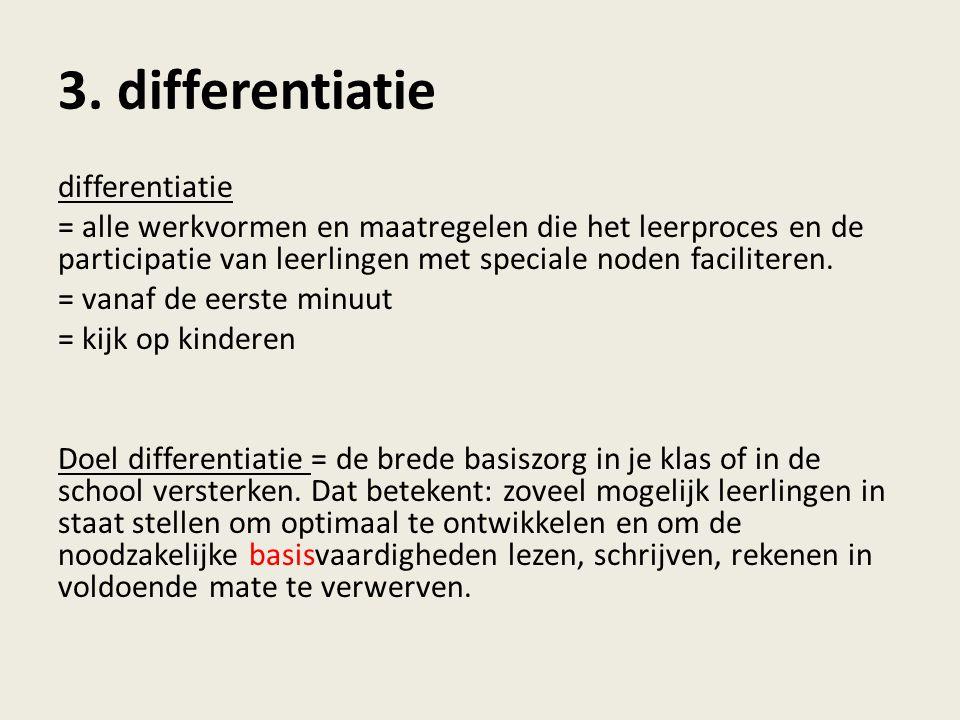 3. differentiatie