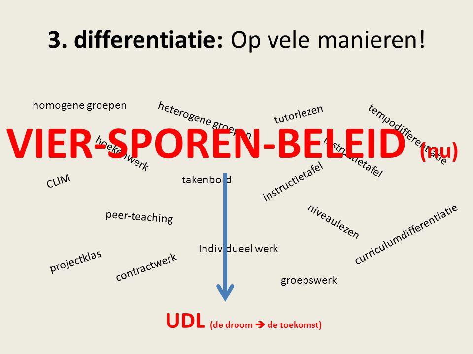 3. differentiatie: Op vele manieren!