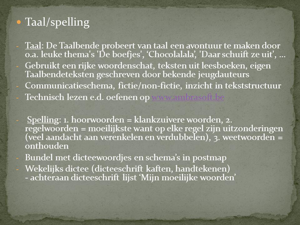 Taal/spelling