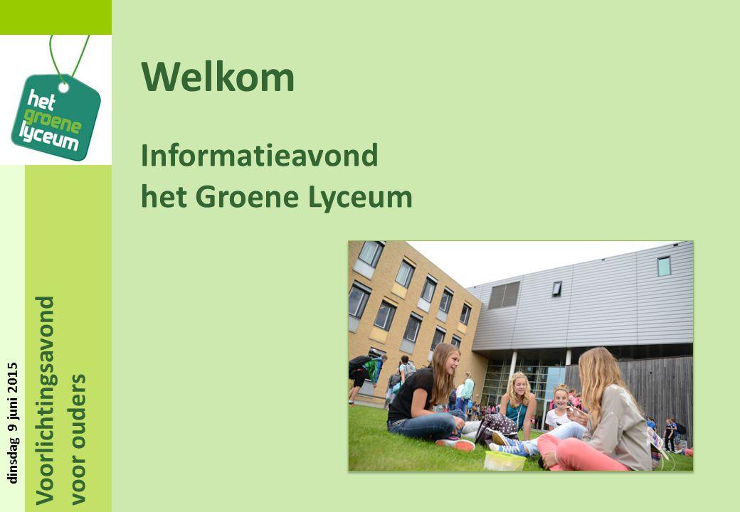 Welkom Informatieavond het Groene Lyceum Voorlichtingsavond