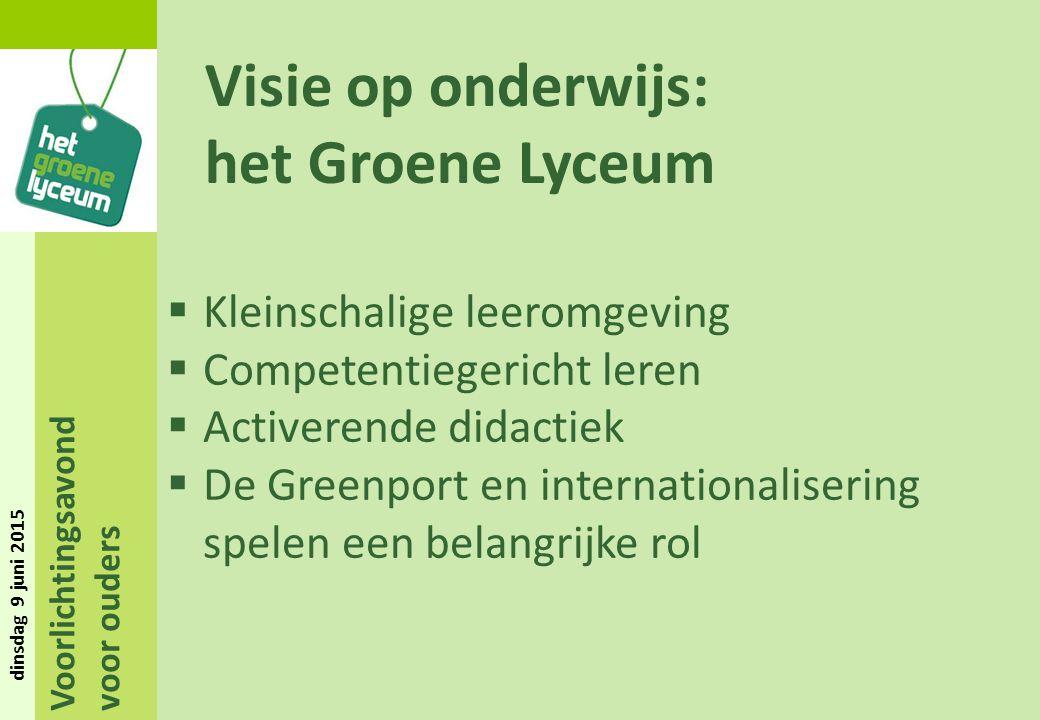 Visie op onderwijs: het Groene Lyceum