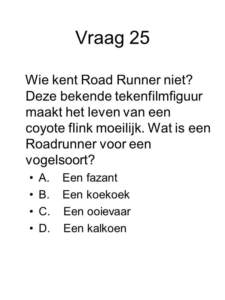 Vraag 25