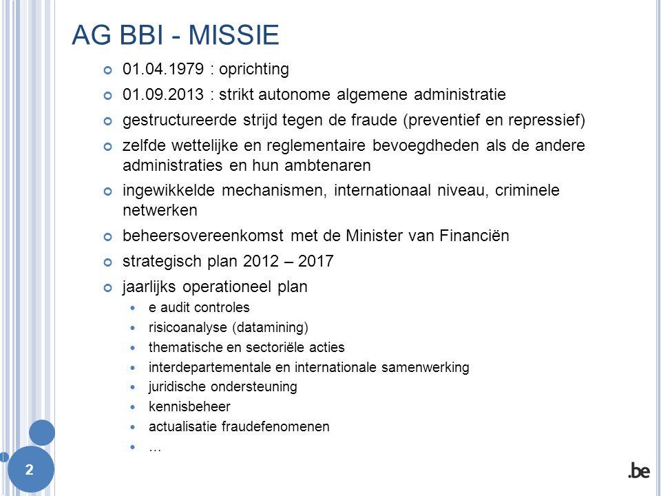 AG BBI - MISSIE 01.04.1979 : oprichting