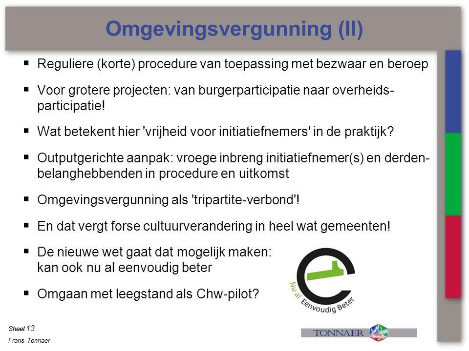 Omgevingsvergunning (II)