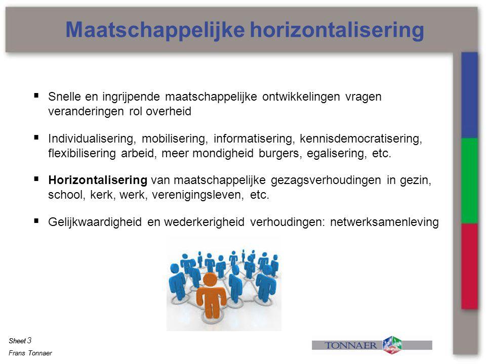 Maatschappelijke horizontalisering