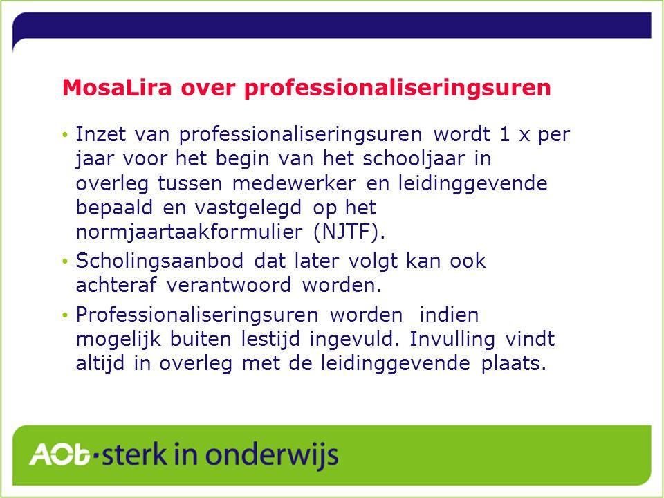 MosaLira over professionaliseringsuren