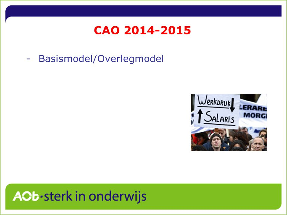 CAO 2014-2015 Basismodel/Overlegmodel 18