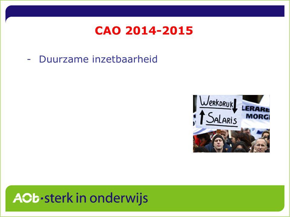 CAO 2014-2015 Duurzame inzetbaarheid 3
