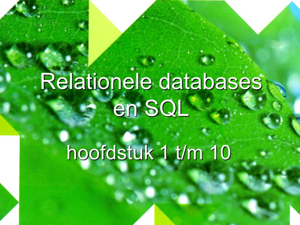 Relationele databases en SQL