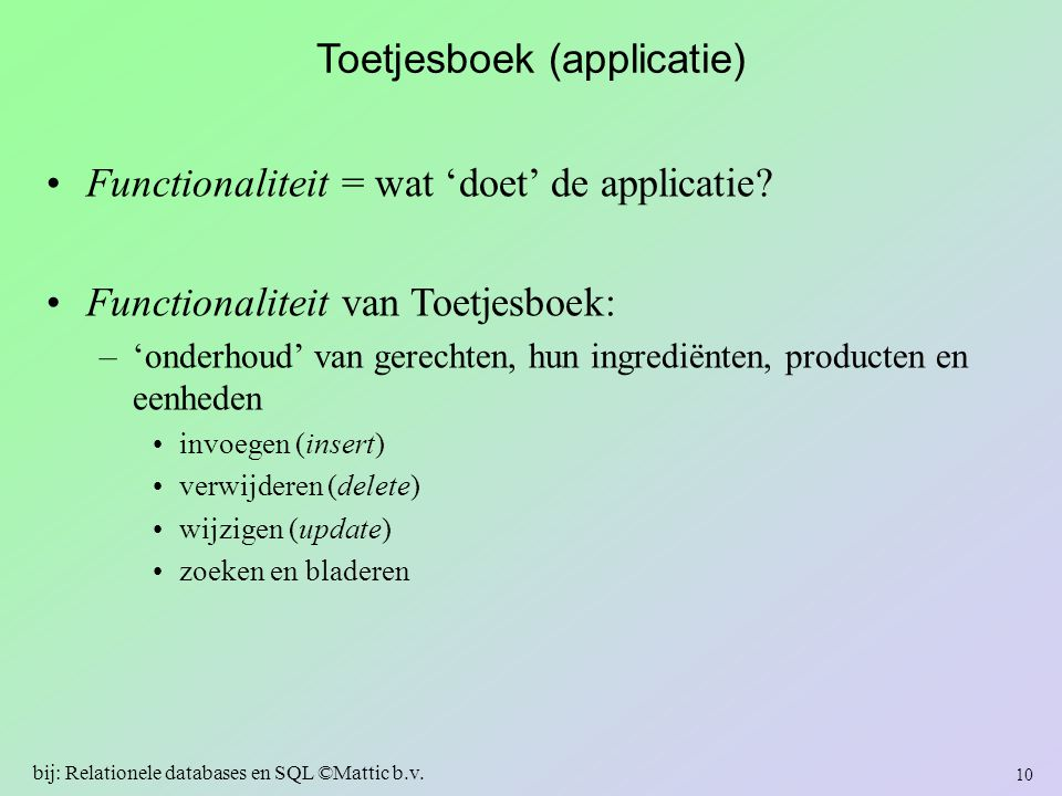 Toetjesboek (applicatie)