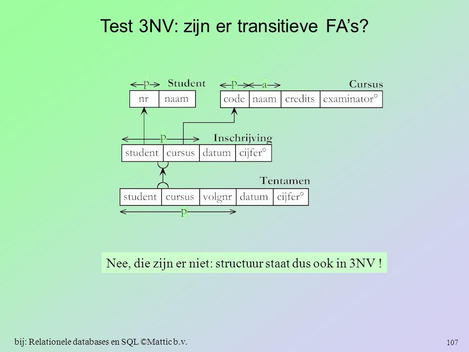 Test 3NV: zijn er transitieve FA's