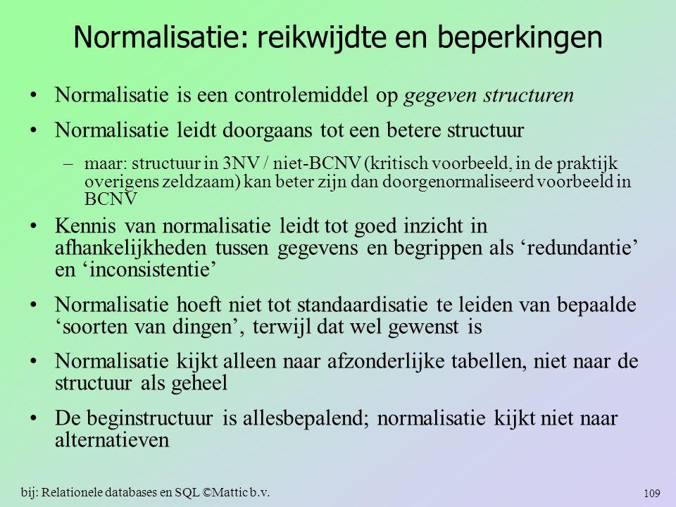Normalisatie: reikwijdte en beperkingen