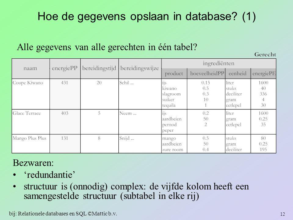 Hoe de gegevens opslaan in database (1)