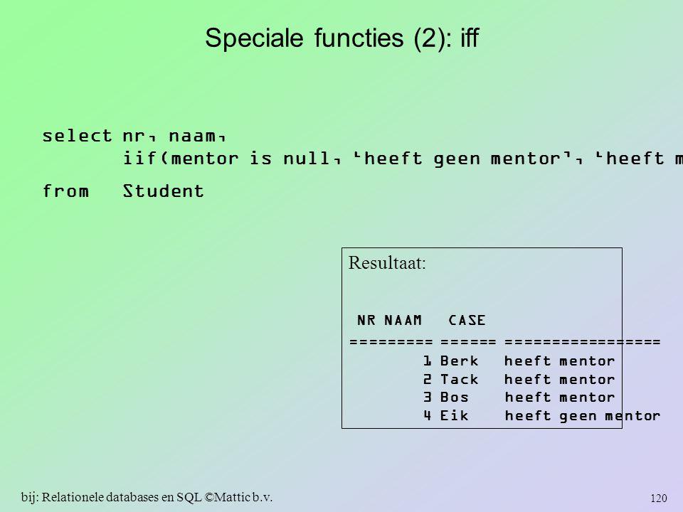 Speciale functies (2): iff