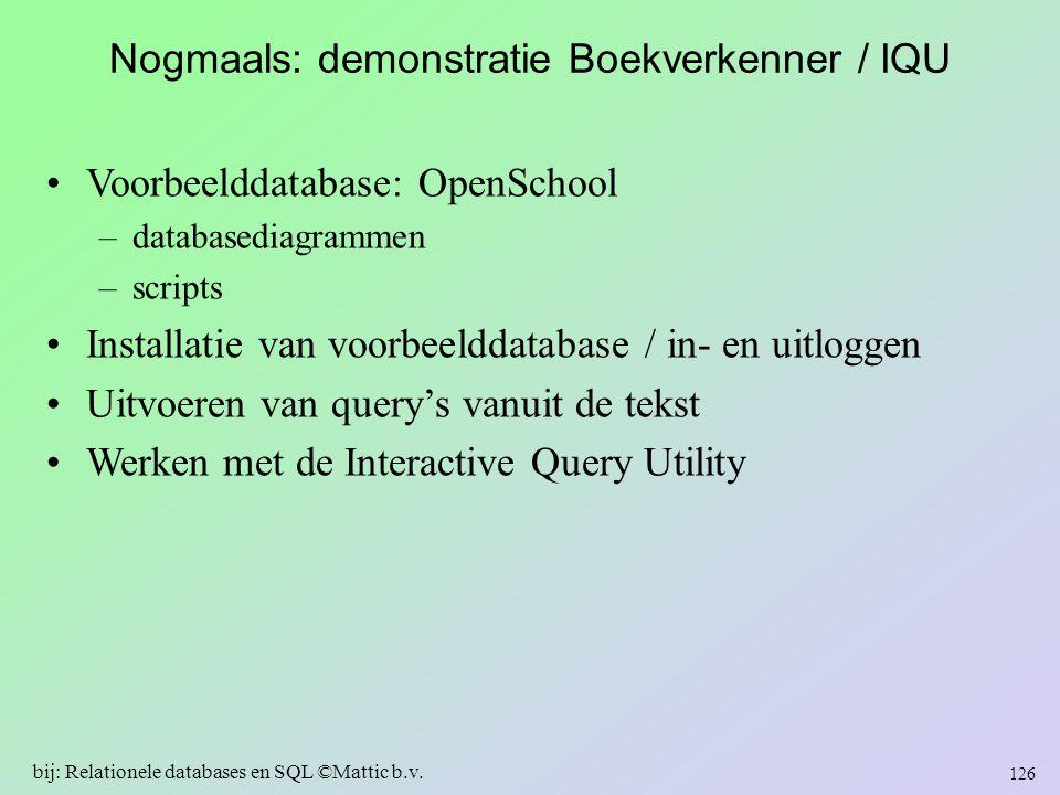 Nogmaals: demonstratie Boekverkenner / IQU