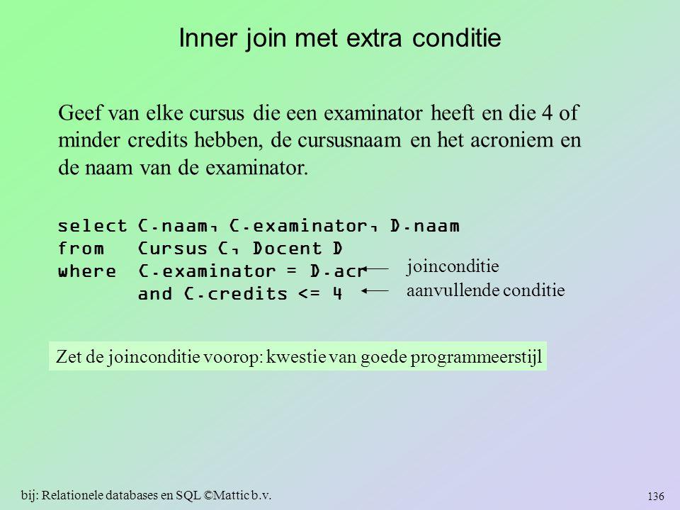 Inner join met extra conditie