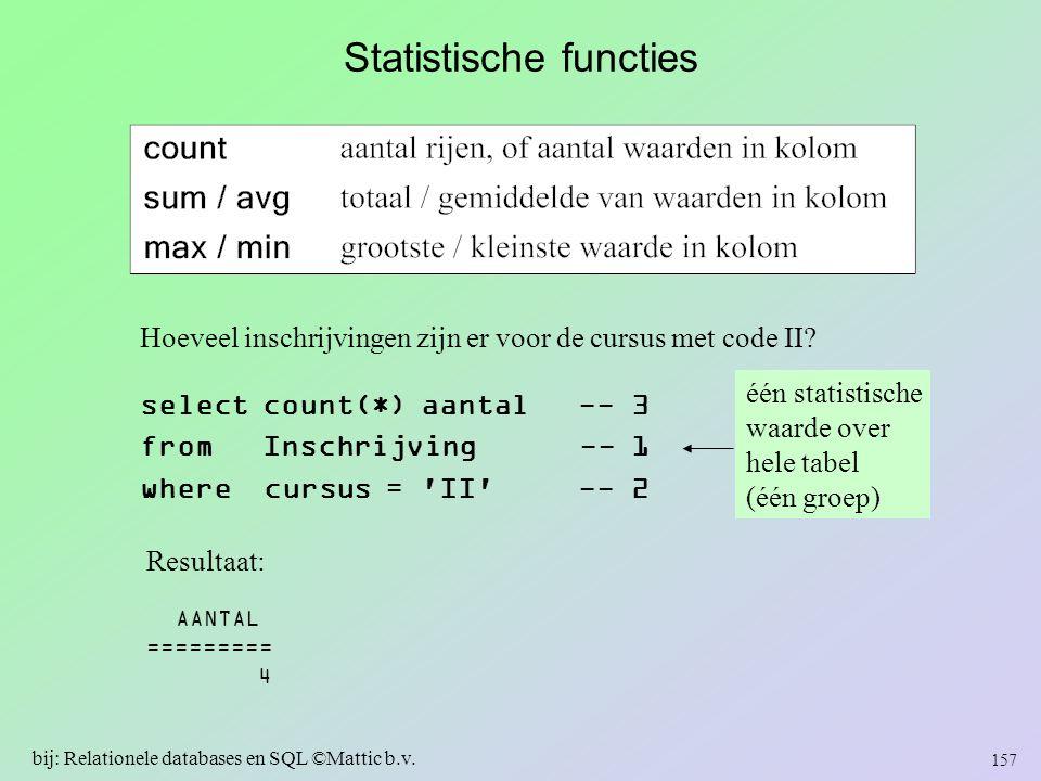 Statistische functies