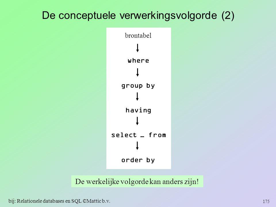 De conceptuele verwerkingsvolgorde (2)