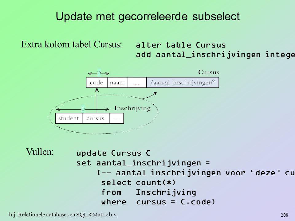 Update met gecorreleerde subselect