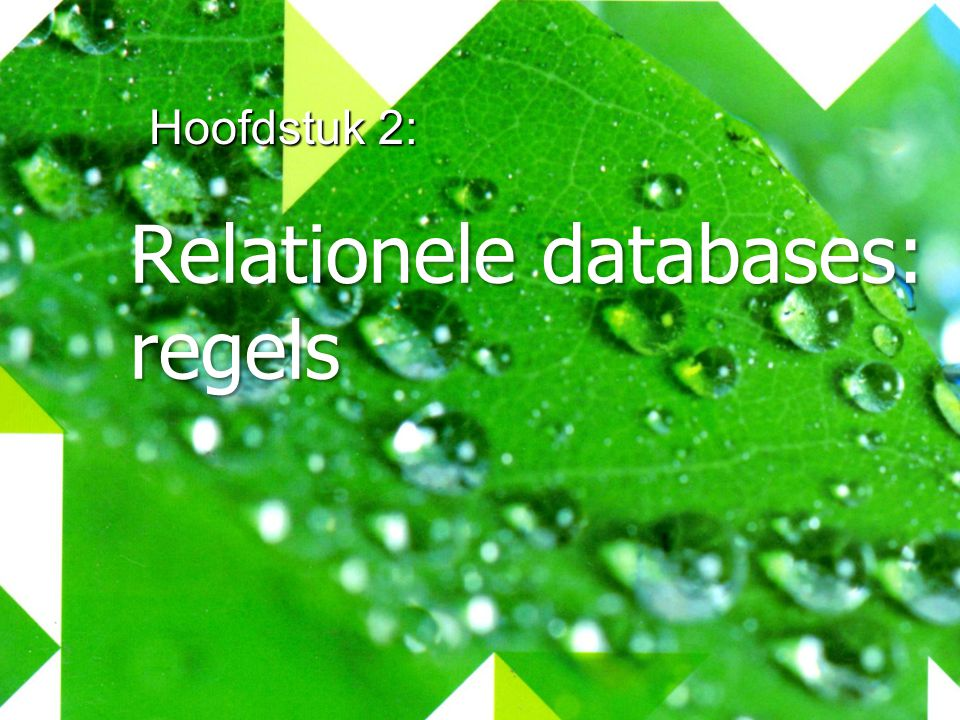 Relationele databases: regels