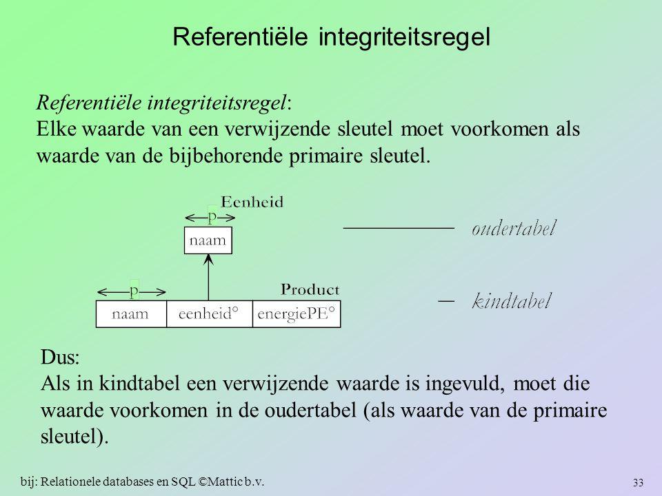 Referentiële integriteitsregel