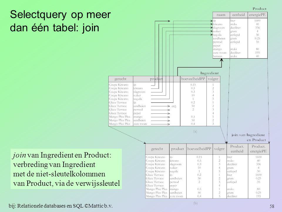 Selectquery op meer dan één tabel: join