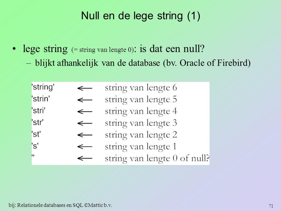 Null en de lege string (1)