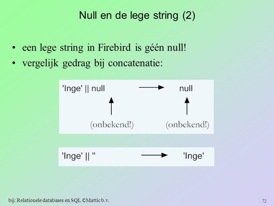 Null en de lege string (2)