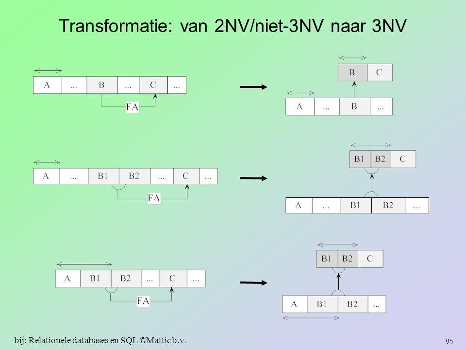 Transformatie: van 2NV/niet-3NV naar 3NV