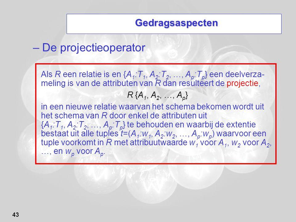 De projectieoperator Gedragsaspecten