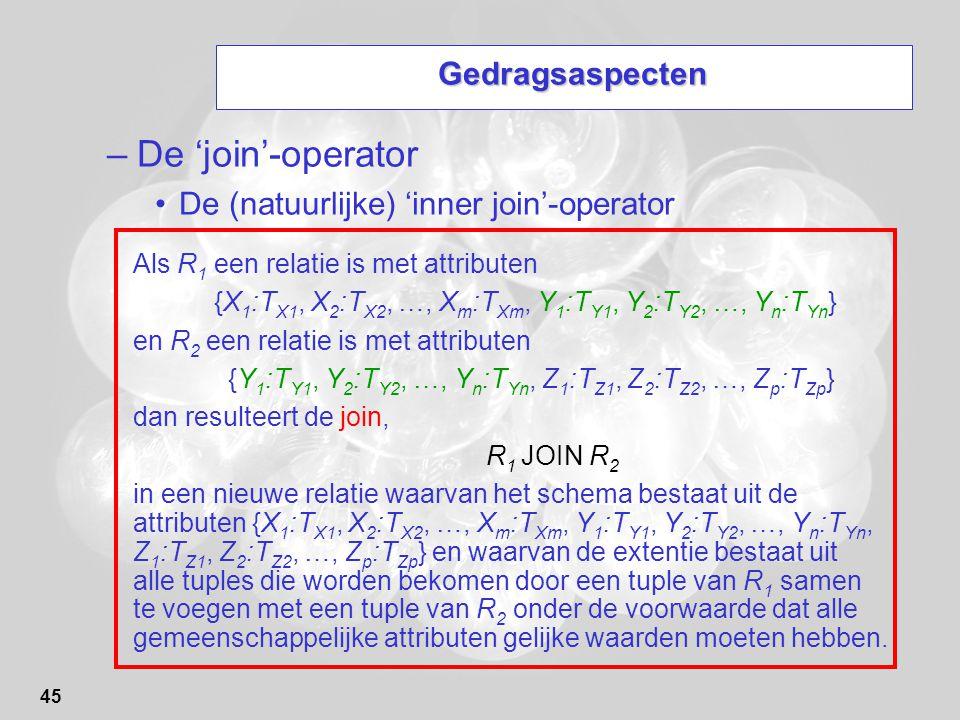De 'join'-operator Gedragsaspecten