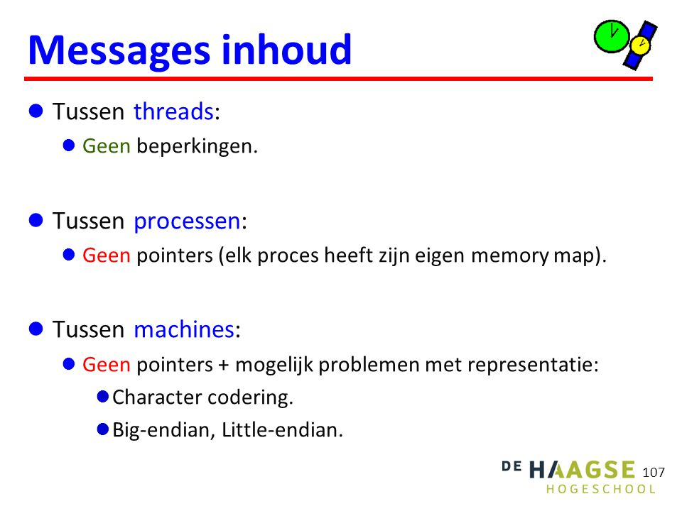 POSIX message queue Kenmerken:
