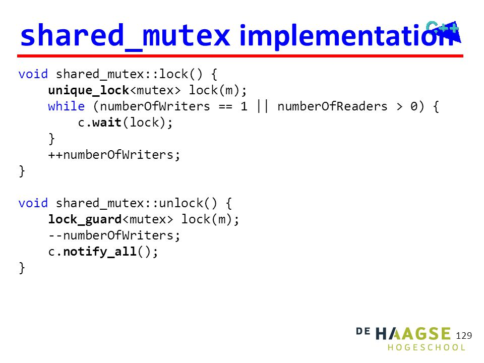 shared_mutex implementation