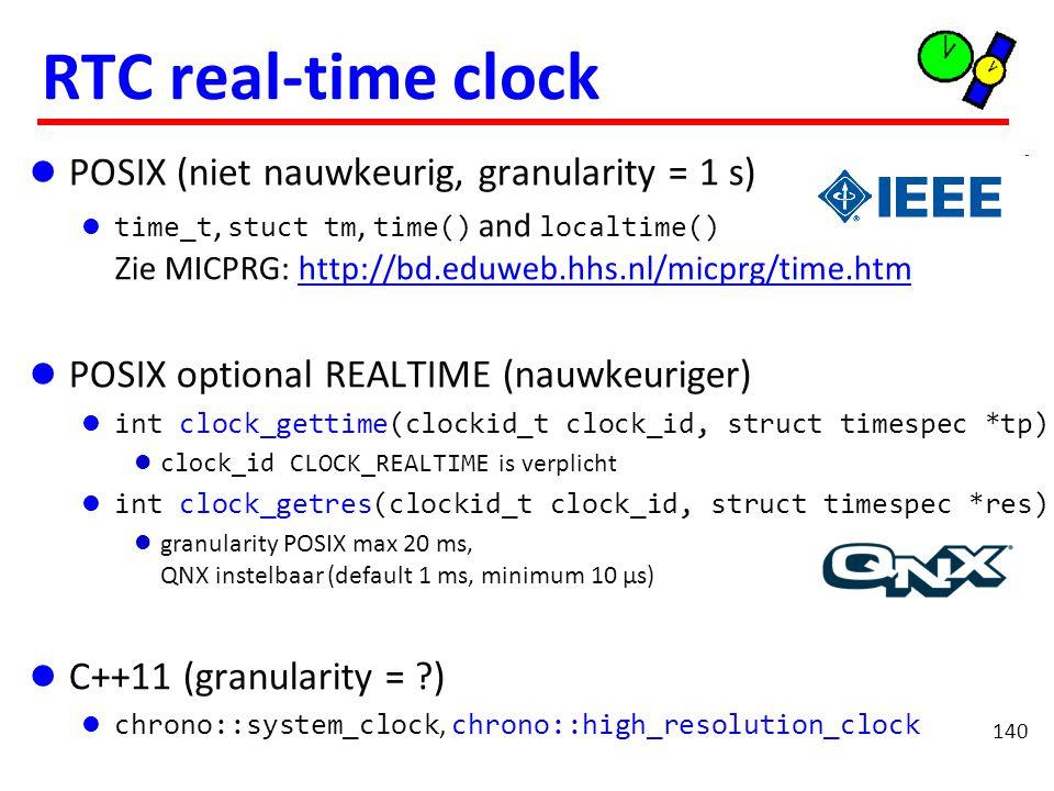 Slapen POSIX (niet nauwkeurig, granularity = 1 s)