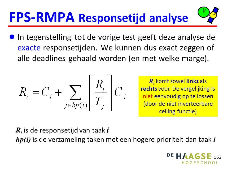 FPS-RMPA Responsetijd analyse