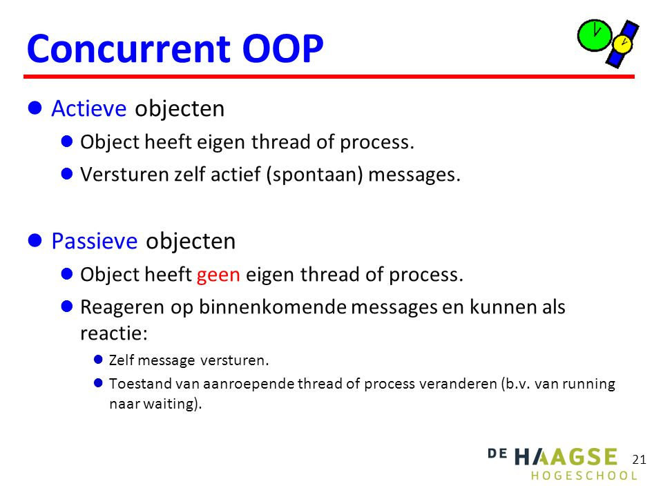 Specificatie van concurrent taken