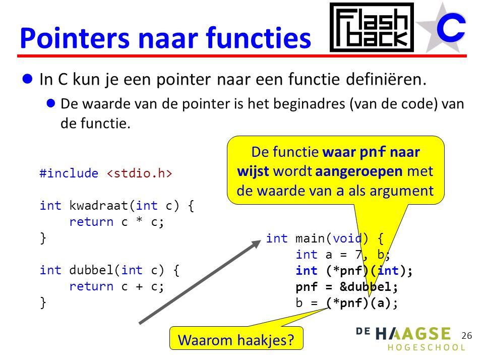 Pointers naar functies