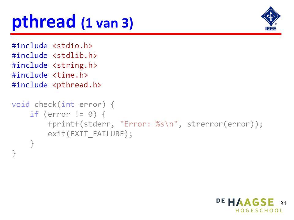 pthread (2 van 3) void* print1(void* par) {