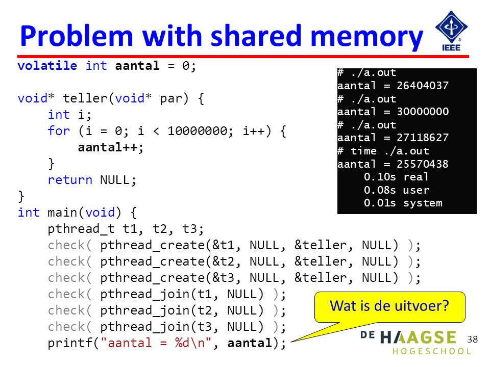 Problem with shared memory