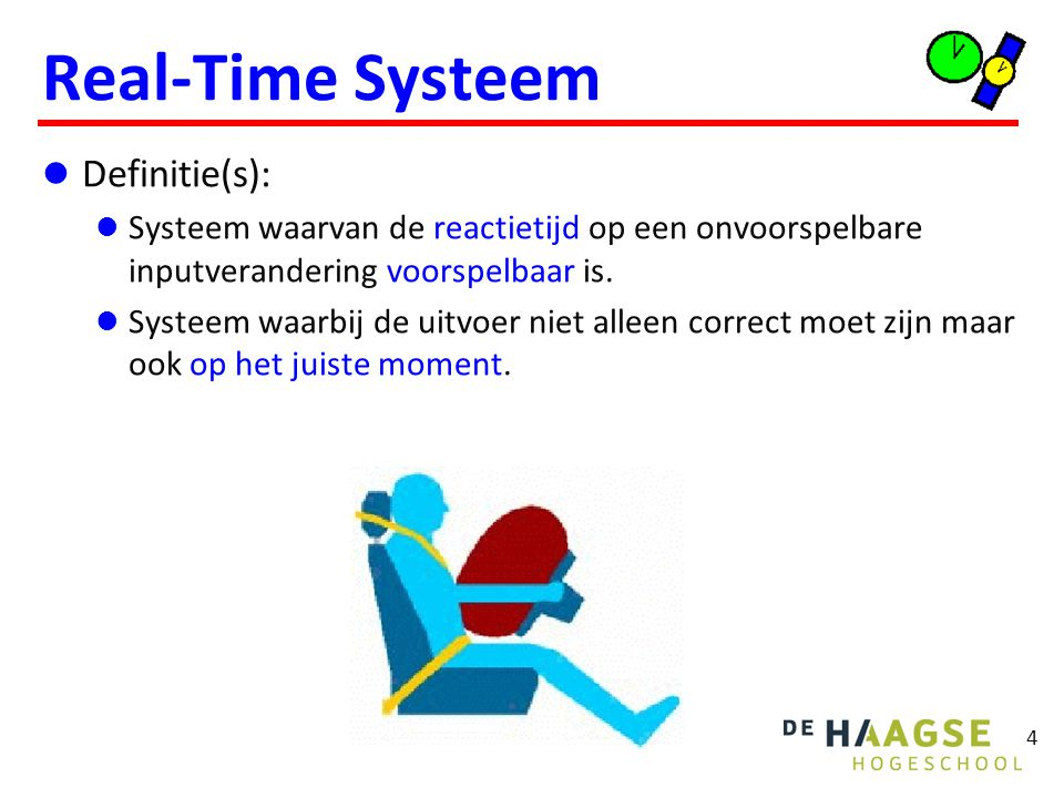 Indeling Real-Time Systemen