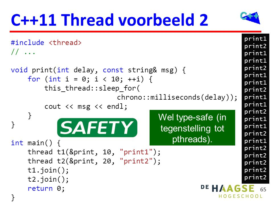 C++11 Thread thread::hardware_concurrency() t.native_handle()